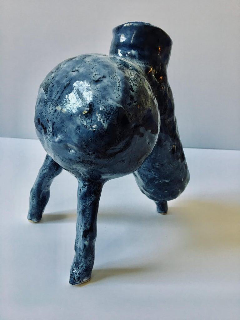 Sculpture ceramic vessel: 'Creature Medium No 3' For Sale 5