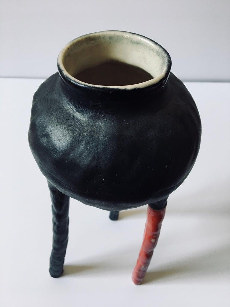 Sculpture ceramic vessel: 'Creature Medium No 8' For Sale 3