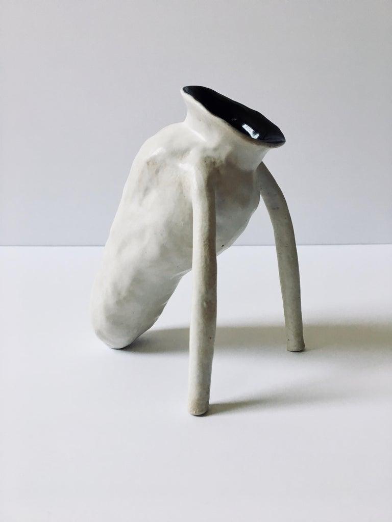 Sculpture; 'Creature Small 1' - Gray Abstract Sculpture by Ak Jansen