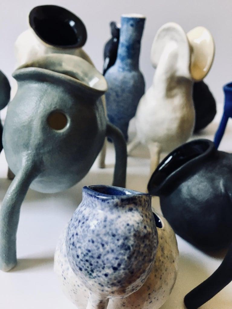 Sculpture ceramic vessels: 'Creature Small No 1-13' For Sale 1