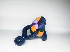 Small Ceramic & Fiber Sculpture: 'Bram'