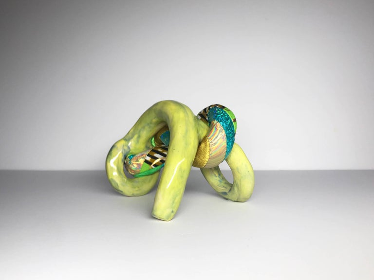 This is part of a new collection work that encompasses ceramics and textiles by Ak Jansen. Born in the Netherlands, Jansen's work occupies queerness on both poetic and political terms, and honors queer community's ethic of creative self-making. The
