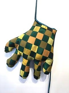 Textile hand wall sculpture: 'No. 37'