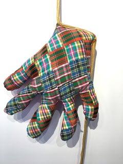 Textile hand wall sculpture: 'No. 40'