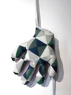 Textile hand wall sculpture: 'No 41'