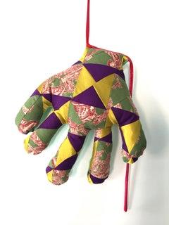 Textile hand wall sculpture: 'No. 42'