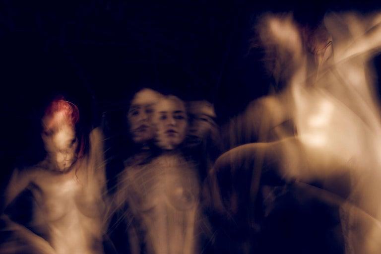 Campfire Ghosts, Photograph, Archival Ink Jet - Black Color Photograph by A.K. Nicholas