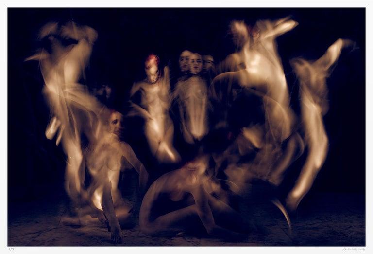 A.K. Nicholas Color Photograph - Campfire Ghosts, Photograph, Archival Ink Jet