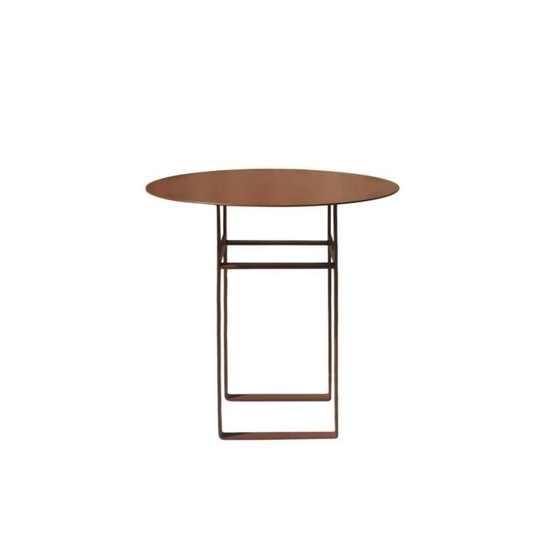 Modern Aka R Side Table - Scandinavian Style Metal Side Table (model RB) For Sale