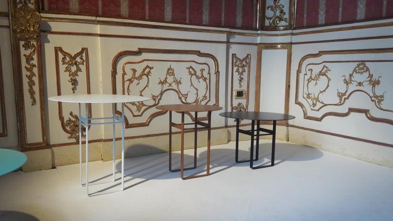 Italian Aka R Side Table - Scandinavian Style Metal Side Table (model RB) For Sale
