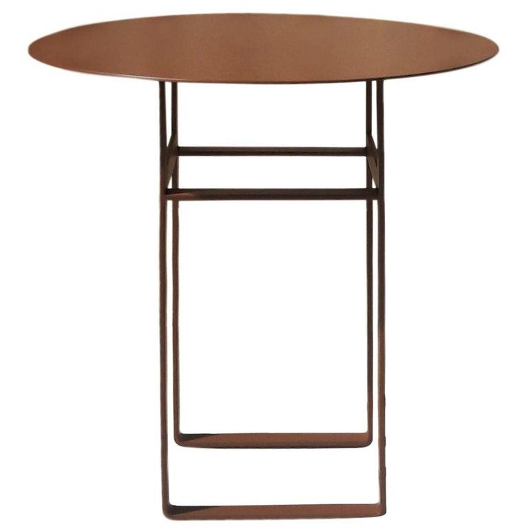 Aka R Side Table - Scandinavian Style Metal Side Table (model RB) For Sale