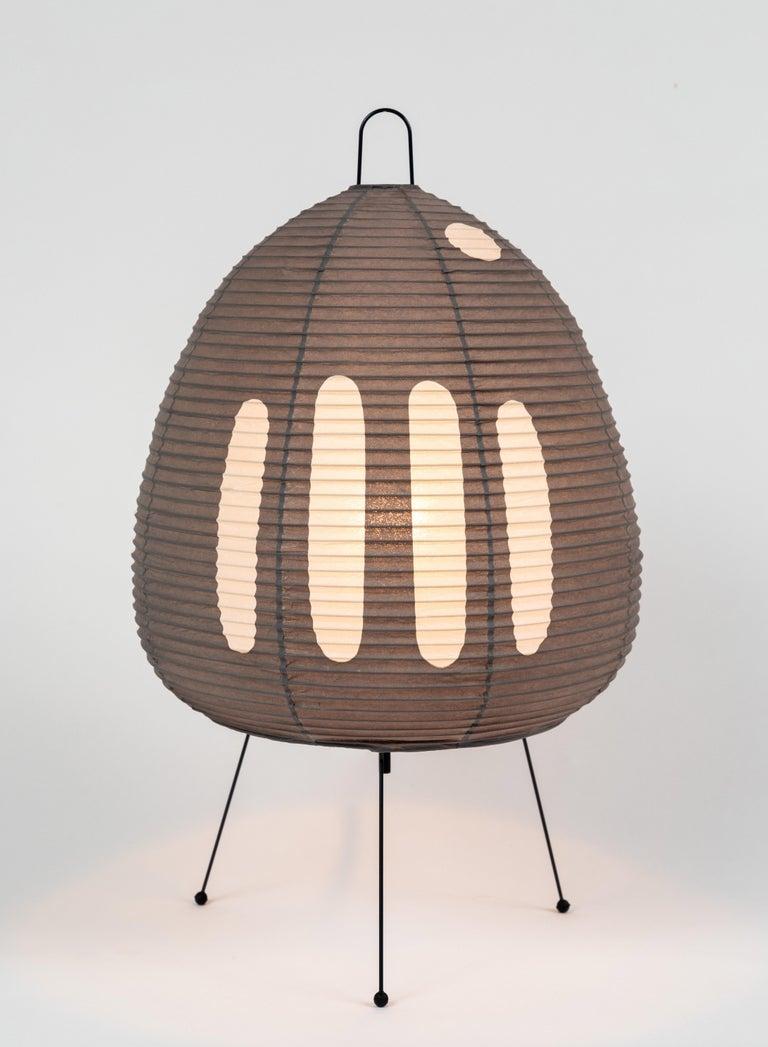Metal Akari Model 1AG Light Sculpture by Isamu Noguchi