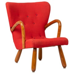 'Åke' Scandinavian Modern Clam Chair by IKEA Sweden