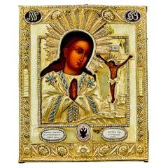 Akhtyrskaya Mother of God Russian Silver Icon