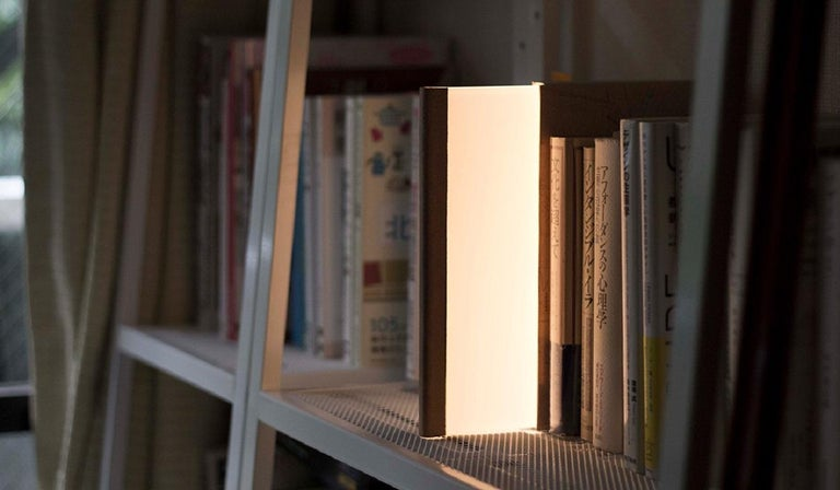 Japanese Akii, Nightbook LED Book Light, Grey For Sale