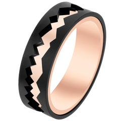 Akillis Capture in Motion Ring Black Titanium and 18 Karat Rose Gold