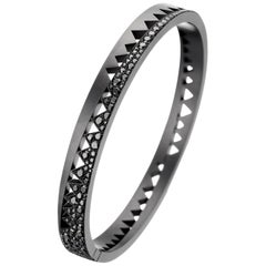 Akillis Capture Me Bracelet Titanium Half-Set Black Diamonds