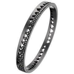 Akillis Capture Me Armband aus Titan mit schwarzen Diamanten