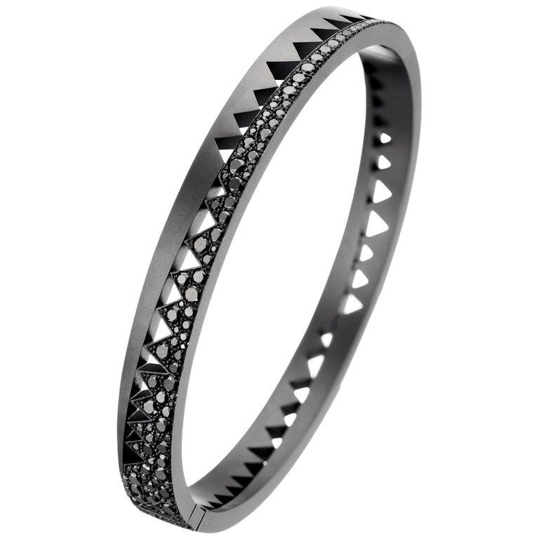 Akillis Capture Me Bracelet Titanium Half-Set Black Diamonds For Sale