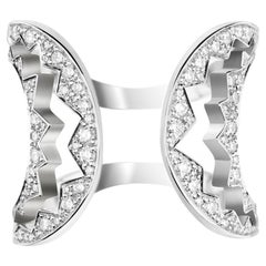 Akillis Capture Me Ring 18 Karat White Gold Set White Diamonds