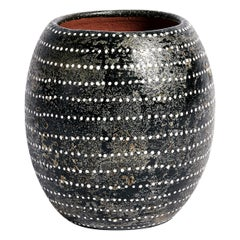 Akin Vase in Black Ceramic by CuratedKravet