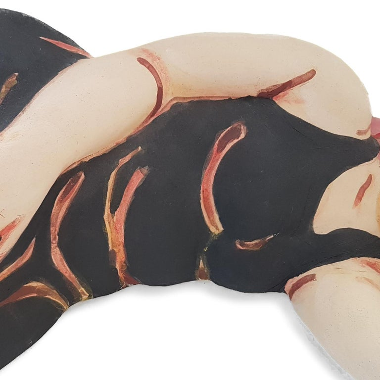 Sleeping Woman in Black Dress with Red Hair For Sale 2