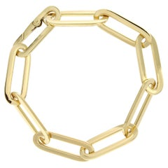 Aklex Jona 18 Karat Yellow Gold Link Chain Bracelet