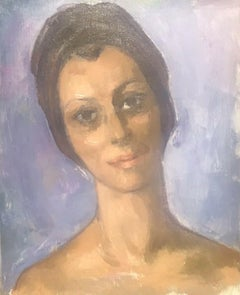 20th Century Signed French Oil - Portrait of a Lady from Mougins, South France