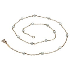 Akoya Pearl 18Kt Red Gold Necklace Petronilla Made in Italy