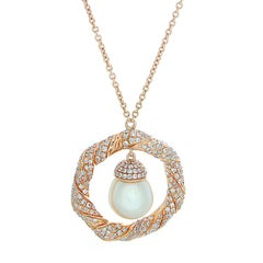 Akoya Pearl Diamond Gold Necklace