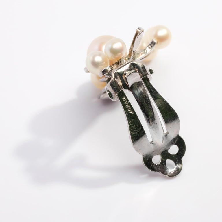 Akoya Pearl Earrings Gump's Midcentury 1