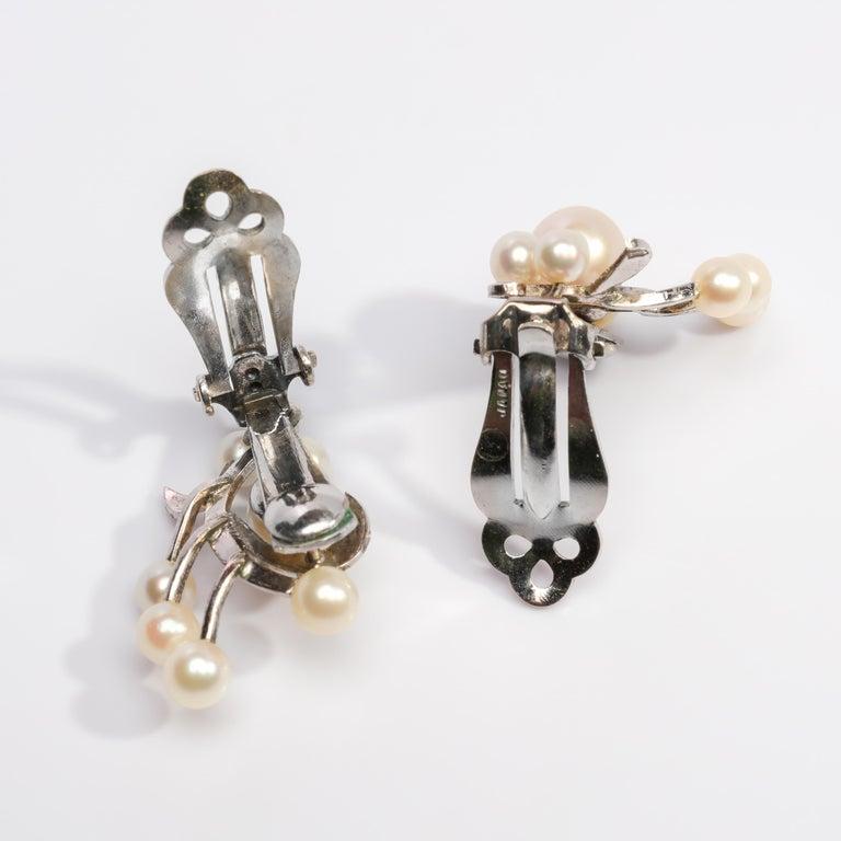 Akoya Pearl Earrings Gump's Midcentury 2