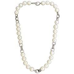 Akoya Pearl Gold Chain Necklace