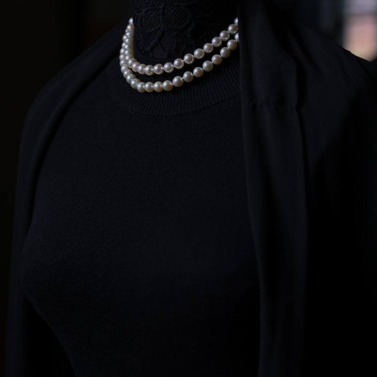 Akoya Pearl Necklace Double Strand For Sale 7