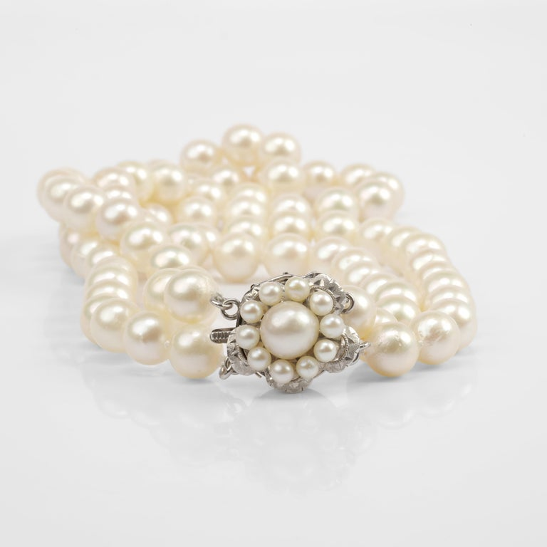 Akoya Pearl Necklace Double Strand For Sale 2