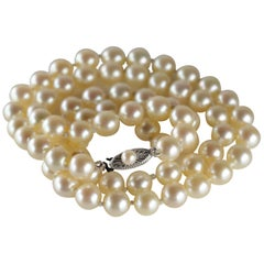Akoya Pearl Necklace from Midcentury