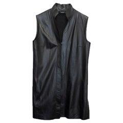 Akris Black Leather Vest - Size US 6