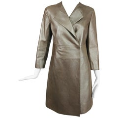 Akris Bronze Gold Lamb Suede Coat