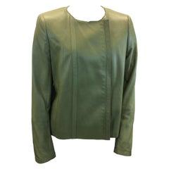 Akris Green Leather Jacket
