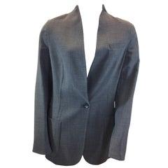Akris Grey Linen and Wool Jacket