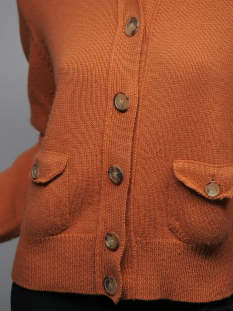 Long Sleeve Knit Button front sweater with pockets
