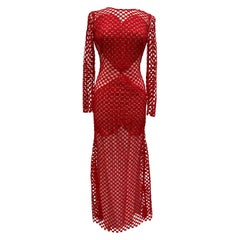 Akris Red Crochet Dress
