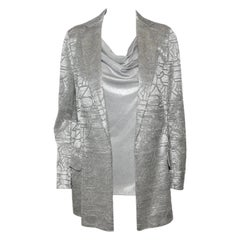 Akris Silver Tone Abstract Lace  Design Jacket