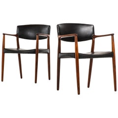 Aksel Bender Madsen & Ejner Larsen Armchairs by cabinetmaker Willy Beck