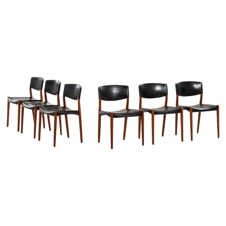 Aksel Bender Madsen & Ejner Larsen Dining Chairs by Cabinetmaker Willy Beck For Sale