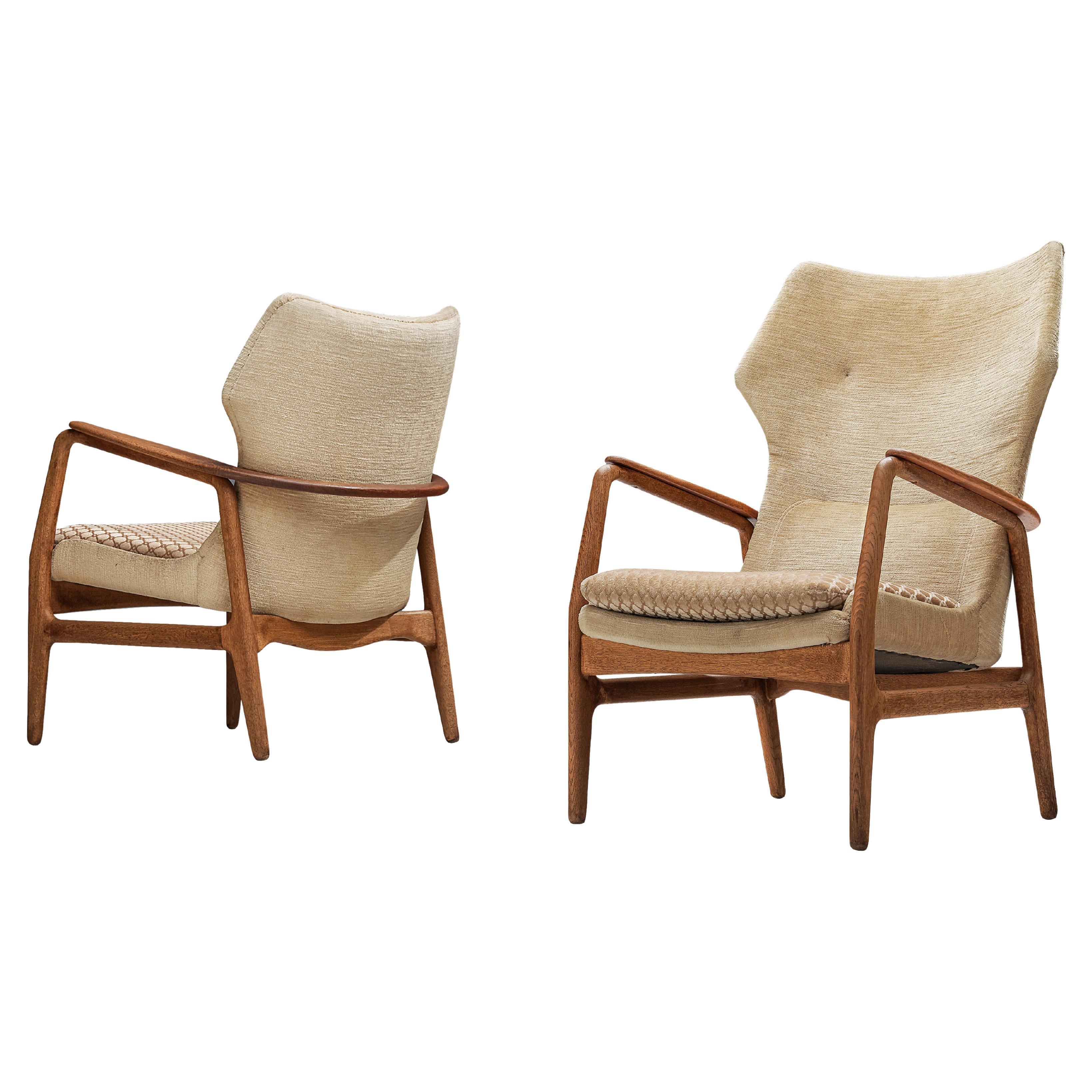 Aksel Bender Madsen for Bovenkamp Lounge Chairs in Oak and Teak