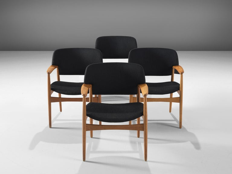 Danish Aksel Bender Madsen Oak Armchairs for Fritz Hansen For Sale
