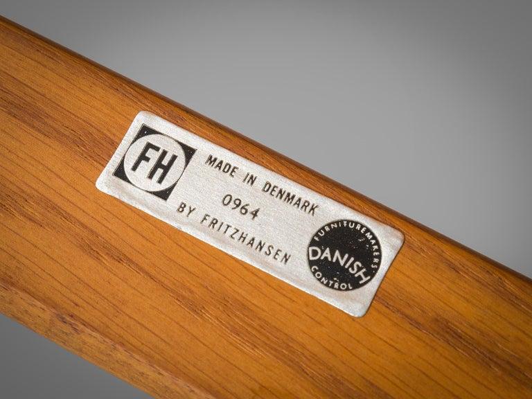 Aksel Bender Madsen Oak Armchairs for Fritz Hansen For Sale 3
