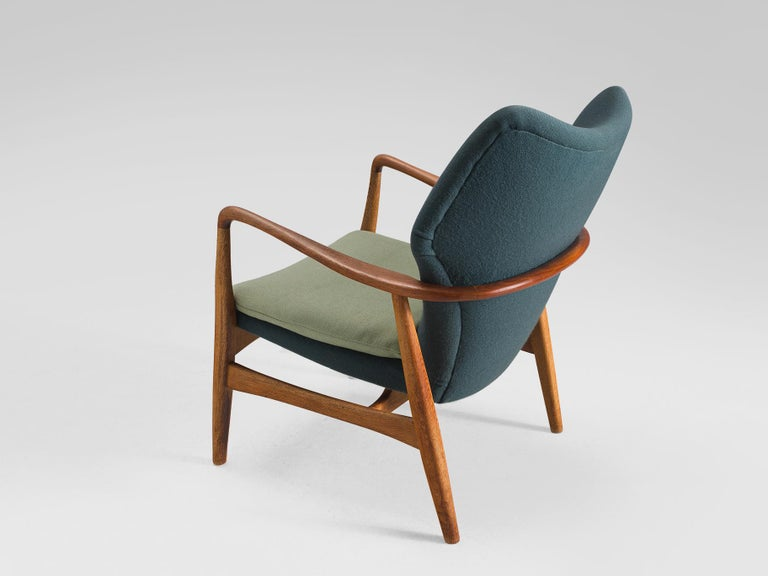 Danish Aksel Bender Madsen Teak and Oak Lounge Chair For Sale