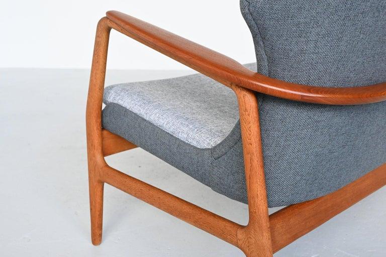 Upholstery Aksel Bender Madsen Wingback lounge Sofa Bovenkamp, the Netherlands, 1960 For Sale